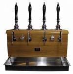Two-Pull Pullman Cabinet Beer Engine - Brass -  1/4 Pint per pull